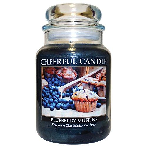 A Cheerful Giver Duftkerze im Glas, Blaubeeren-Muffins 24oz dunkelblau 24 16 Oz Glas