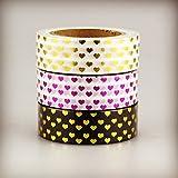 Juego de 3corazones Washi decorativa cinta