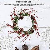 EisEyen Weihnachtsdeko Dekokranz Rote Beeren Weihnachten Deko Weihnachten große Kranz Tür Wand Ornament Girlande Dekoration Weihnachtsbaum Weihnachtsschmuck Decor
