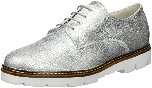 Gabor Shoes Fashion, Derby Femme Argent (ice 71)