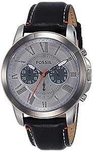 Fossil - FS4886 - Montre Homme - Quartz Chronographe - Chronomètre - Bracelet Cuir Noir