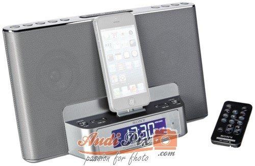 Sony ICF-DS15IPSN Dockingstation mit Uhrenradio für Apple iPod/ iPhone 5 silber Sony Ipod Video