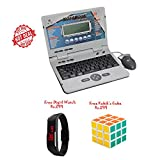 #8: Lets Play Chargeable Laptop With 30 Activities (Blue) - With Mouse And Charger +Free Kids Digital Watch Rs.299+Free Rubik's 3*3 Cube Rs.299