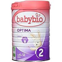 Babybio Optima 2 Lait Nourrisson Bio 6 + Mois 900 g - Lot de 3
