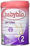 Babybio Optima 2 Lait Nourrisson Bio 6+ Mois 900 g - Lot de 3