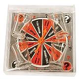 Invero® 5 Stück - Party Spin Aufnahme Trinkspiel mit 4-fach Erwachsene Alcohol Schnapsglas ideal für Geschenk oder Junggesellen / Junggesellinnenabschied Feiern