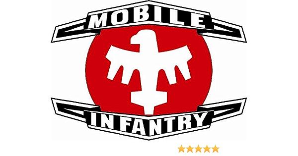 U24 Aufkleber Starship Troopers Mobile Infrantry Emblem Abzeichen Autoaufkleber Sticker Konturschnitt Auto