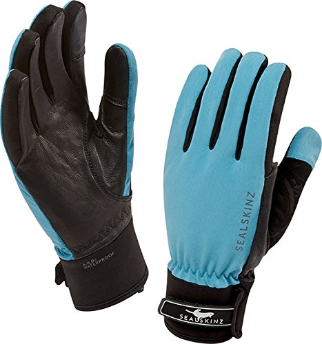 Sealskinz women's all season paire de gants Multicolore - Sky Blue/Black