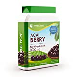 Acai Berry 1000mg 90 Capsules - Extreme Strength Diet Pills for Weight Loss Management & General Health - Premium GMP Supplement