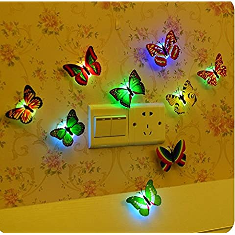 Rainbow Love farfalla colorata notte luce