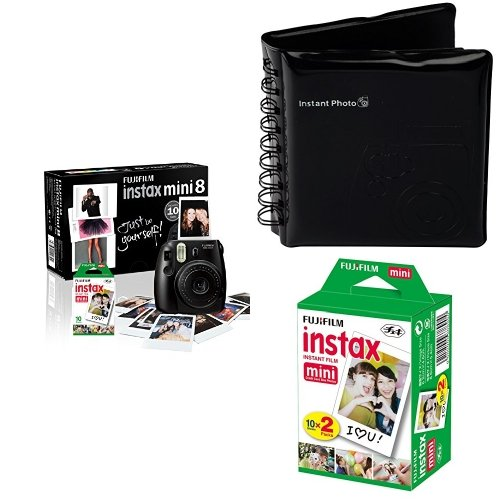 Price comparison product image Instax Mini 8 Camera with 30 Shots - Black