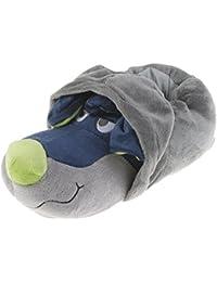 Flusspferd Plusch Tier Hausschuhe Hippo Nilpferd Schlappen Puschen Komfort 36 48