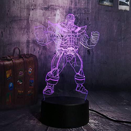 ttljydd Bestaunen Sie die Avengers Big Villain Thanos 3D LED RGB 7 Farbwechsel Nachtlicht BAB (2 Avengers Die Vision)