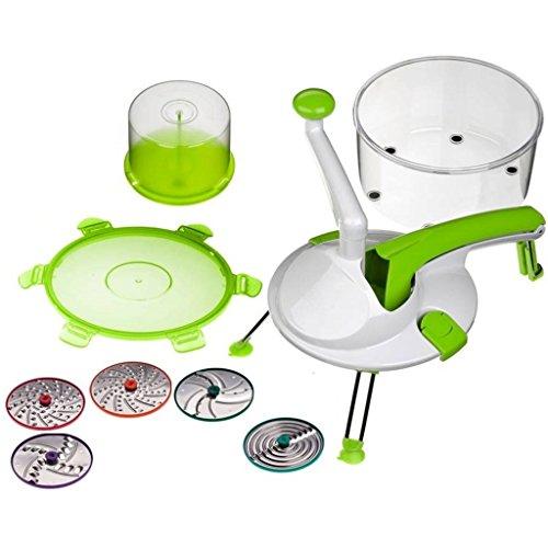 Genius - Roto Champ 8-tlg. Küchenmaschine grün 25088 (Champs-grün)