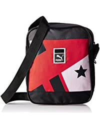 Puma Polyester 3 Ltrs High Risk Red and Star Graphic Messenger Bag (7385103) e7b39529ccff0