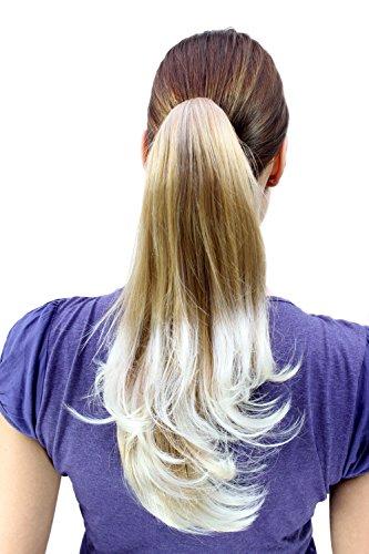 Toupet, capelli lunghi biondo naturale punte ricce (t400-27t613)
