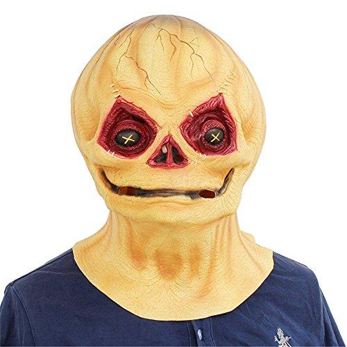 JTWJ Halloween Kürbis Maske Kopfbedeckungen Horror Requisiten lustig -