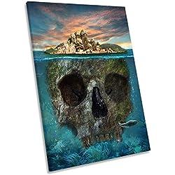 Impresión artística de la Isla de Skull, 50 x 75 cm.
