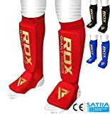 RDX Paratibia MMA Parastinchi Shin Pad Imbottito Kick Boxing Muay Thai (Certificato Ce Approvato Da Satra)