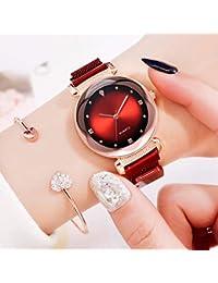rebirthesame Reloj de Cuarzo para Mujer, Nueva colección de Mano con imán con Personalidad de