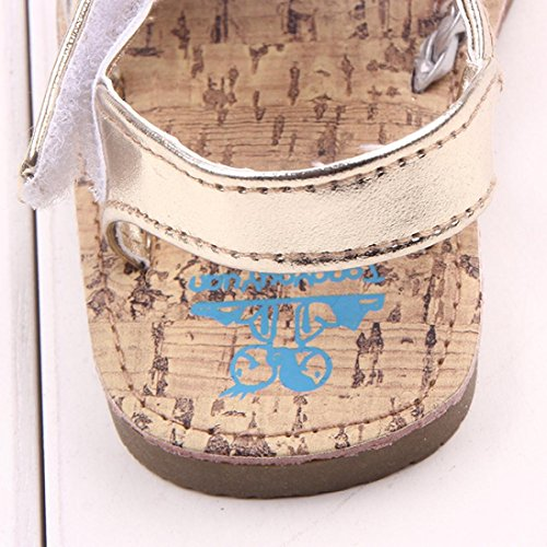 Culater® Scarpe bambini all'aperto sandali del bambino principessa primi camminatori Ragazze Kid Oro