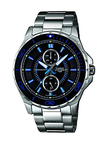 Casio Herren-Armbanduhr XL Collection Men Analog Quarz Edelstahl MTD-1077D-1A1VEF