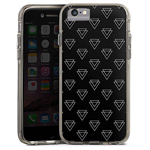 Apple iPhone 6s Bumper Hülle Bumper Case Glitzer Hülle Dreieck Triangle Geometrisch Bumper Case transparent grau