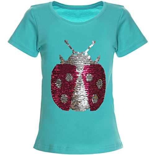 BEZLIT Mädchen Wendepailletten T-Shirt Top Bluse Kurzarm Shirt 21356