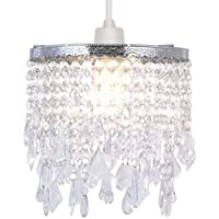 Crystal Pendant Light Shade, Modern Chandelier Design Ceiling Pendant Light Shade with Clear Acrylic Crystal-Clear
