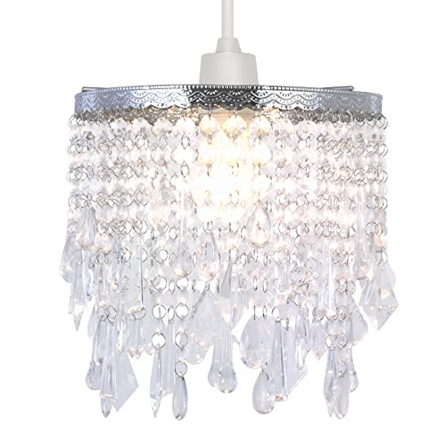 Modern Chandelier Design Ceiling Pendant Light Shade with Clear Acrylic Crystal-Clear