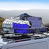 KAIMENG 90x120cm Filet pour bagages, lourd Filet Bungee avec 12 crochets ABS - Filet pour bagages Grande capacité, Porte-bagages de Voyage Porte-bagages Flessibile