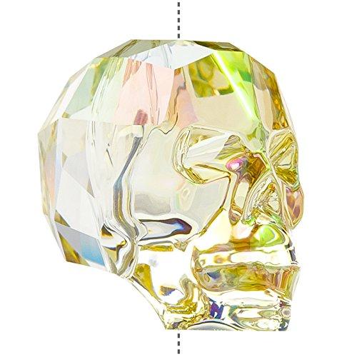 Swarovski 5750Crystal Skull cordone luminoso verde (19MM)