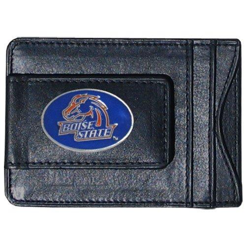 Siskiyou NCAA Bargeld- und Kartenetui aus Leder, Unisex-Erwachsene, Boise State Broncos - Bronco Leder