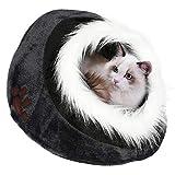 Yaheetech Haustierhaus Katzenhöhle Bett Haustiere Iglu Bett kuschelhöhle für...