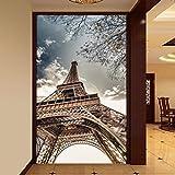 Hwhz Tamaño Personalizado 3D Papel Tapiz Fotográfico Torre Eiffel Sala De Estar Entrada Corredor Mural Papel Tapiz Mural No Tejido Pintura De Pared-200X140Cm