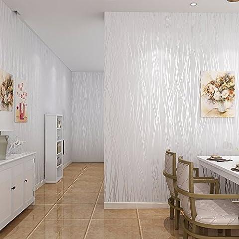 BIZHI Contemporary Wallpaper Art Deco Covering Non-woven Paper Wall Art,M white