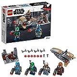 LEGO Star Wars Battle Pack Mandalorian con 4 Minifigure di Guerrieri Mandaloriani, ognuno con Blaster, Set di Costruzioni per Bambini +6 Anni e Veri Appassionati 75267