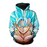 DeLamode Männer mit Hut Hoodies 3D Print Cartoon Pullover Anime Pocket Sweater 0696-XXS