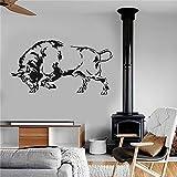 xingbuxin Buffalo Animal tribal dekorative Aufkleber wandkunst Dekoration hauptdekoration abnehmbare Vinyl kinderzimmer kinderzimmer wandaufkleber rot 45 X 85 cm
