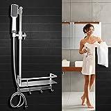 Set doccia Alluminio spaziale Può sollevare verso l'alto e verso il basso l'ugello del bagno dell'asta doccia