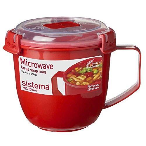 rowellenbecher Suppentasse to go, groß, BPA-freier Kunststoff, ca. 900 ml, ca. 13 x 15.5 x 12.5 cm, rot ()