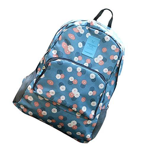 Weiblicher Segeltuch-Rucksack Laptop-Taschen Faltbare Tupfen-Rucksack-Reisen Daypack für Mädchen -