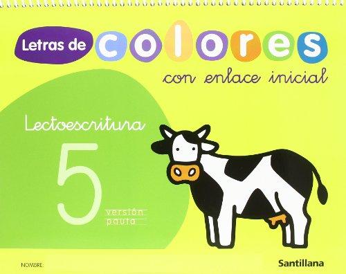 Letras de colores, lectoescritura, Educación Infantil. Cuaderno 5