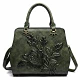 WanJiaMen'Shop Femmina goffrato borsa borsetta eolico nazionale spalla singolo messenger bag, 29,5 * 25 * 13cm, verde