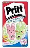 Pritt Funny Lot de 2 Rollers de correction + Gomme 5 mm