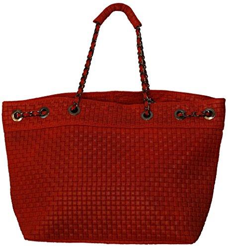 Perano Schulter Tasche, Borsa a mano donna Rosso (rosso)