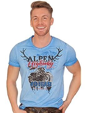 Hangowear Trachten Herren Shirt - ULRICO - Blau