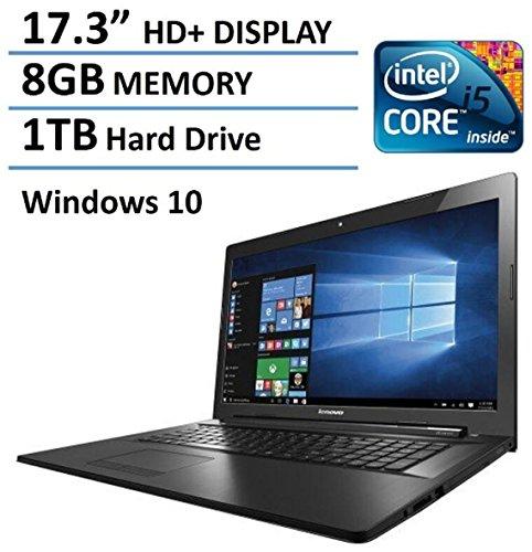 "2016 Lenovo 17 inch Premium Laptop PC, 17.3"" HD+ Display, 5th Intel Core i5-5200U up to 2.7GHz, 8GB Memory, 1TB HDD, DVD+/-RW, HDMI, VGA, Bluetooth, 802.11ac, Webcam, Windows 10 51ehinpG2wL"