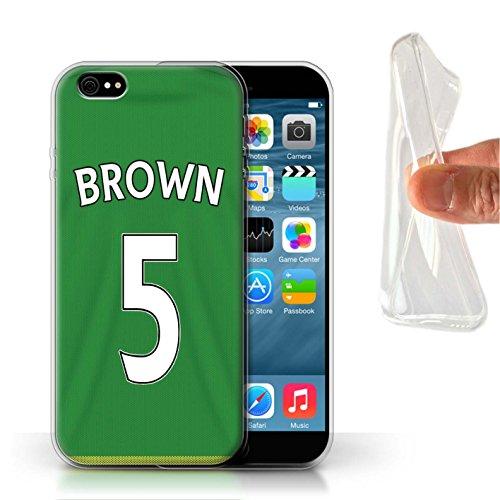 Offiziell Sunderland AFC Hülle / Gel TPU Case für Apple iPhone 6 / Pack 24pcs Muster / SAFC Trikot Away 15/16 Kollektion Brown