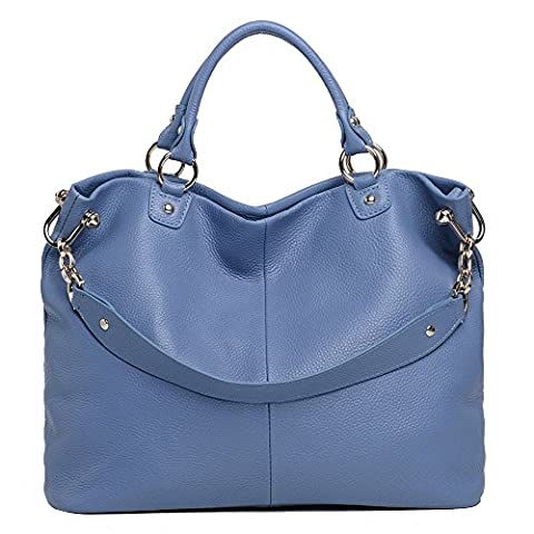 Sonyabecca Womens Ladies' Vintage Genuine Soft Classic Leather Tote Hobos and Satchel Crossbody Shoulder Bags